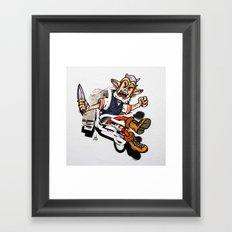 Elf in the Wall Framed Art Print