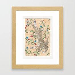 Spiel Mit Mir: Kaninchen Framed Art Print