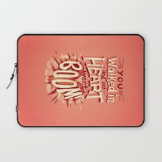 Heart went boom Laptop Sleeve