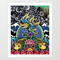 Tibetan Fish Art Print