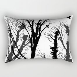 rooks and trees 2 Rectangular Pillow