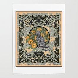 Cat Nouveau Poster