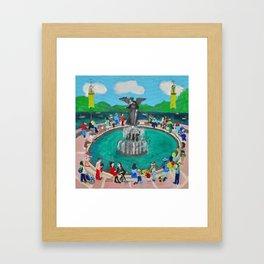 Bethesda Fountain Framed Art Print