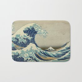 Vintage poster - The Great Wave Off Kanagawa Bath Mat