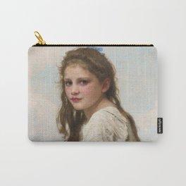 """William-Adolphe Bouguereau """"Au bord de la mer"""" Carry-All Pouch"""