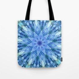 Sweetly Romantic Blue Kaleidoscope Tote Bag