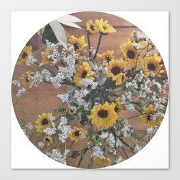 Flowers (yellow/white)  Canvas Print