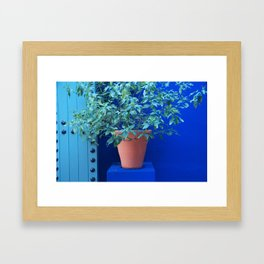 Blue Wall Marrakesh Framed Art Print