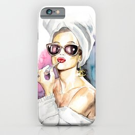 Audrey Hepburn Poster Canvas Fashion Art Print of my Original Painting Breakfast at Tiffany-Matte Paper Print & Stretched Canvas Print iPhone Case