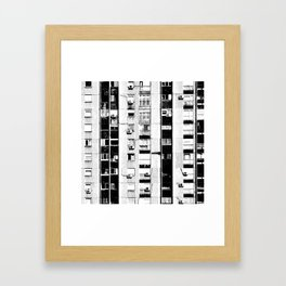 Belgrade | Takovska | black and white Framed Art Print