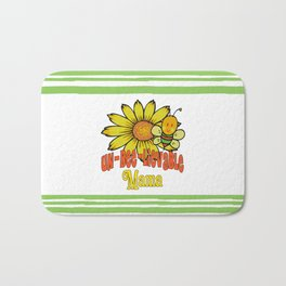 Unbelievable Mama Sunflowers and Bees Bath Mat