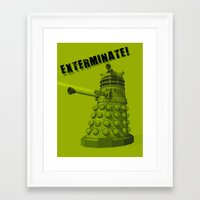 dalek Framed Art Prints featuring Dalek by Digital Arts & Crafts by eXistenZ