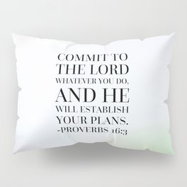 Proverbs 16:3 Bible Quote Pillow Sham