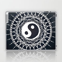 Yin Yang Mandala / White Mandala over stars Laptop & iPad Skin