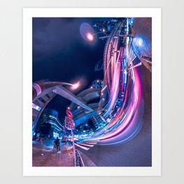Tokyo Neon Night Light Art Print
