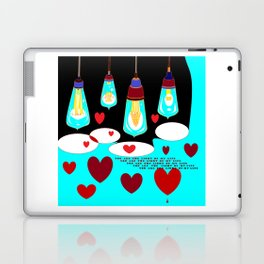 You Are the Light of my Life, in blues for Valentines or just love Laptop & iPad Skin