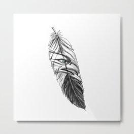 Sea Eagle Feather Tattoo Metal Print