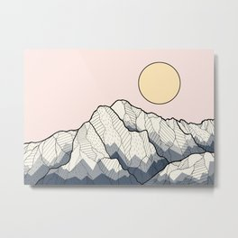 The sun and mountain Metal Print