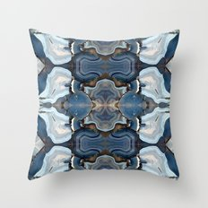 Agate the Blues Throw Pillow