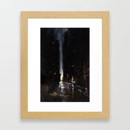 In Between Fifth and Sixth Framed Art Print