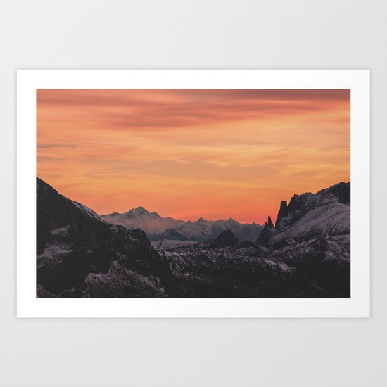 Pastel Sunset #mountains #society6 Art Print