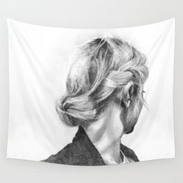 Hair Study #10 (Mono) Wall Tapestry