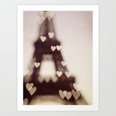 City of Love - Paris Art Print