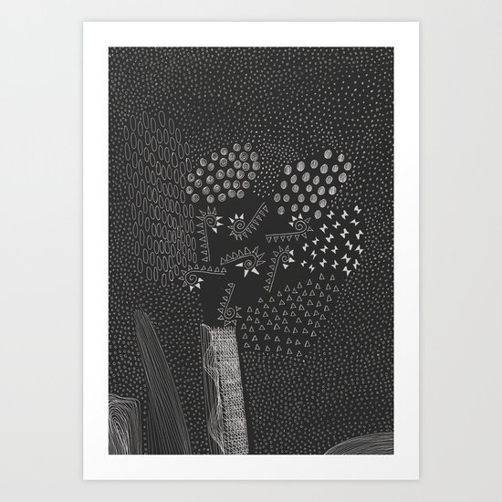 6 elements Art Print
