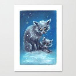 Spooky Snow Dogs Canvas Print