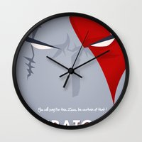 vector Wall Clocks featuring Vector Kratos by LoweakGraph