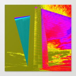 Architectonic in colors Canvas Print