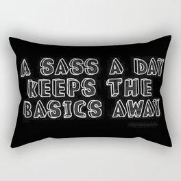 Basic bitch   Sassy   Aesthetic quotes   Aesthetic   Goth girl Rectangular Pillow