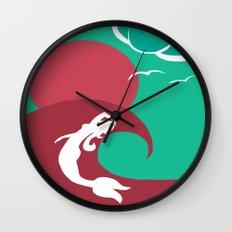 Mermaid Silhouette Wall Clock