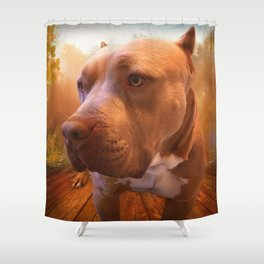 ARTHUR (shelter pup) Shower Curtain