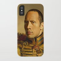 allyson johnson iPhone & iPod Cases featuring Dwayne (The Rock) Johnson - replaceface by replaceface