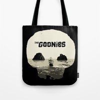 goonies Tote Bags featuring THE GOONIES by Rocky Rock