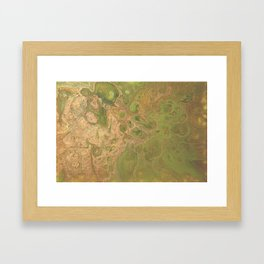 fluid golden green Framed Art Print