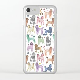 Poodles by Veronique de Jong Clear iPhone Case