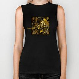 Golden Swallow - Gold Biker Tank