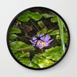 Exquisite water lily Wall Clock