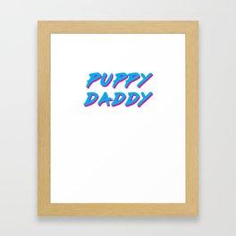 Puppy Daddy in Cyan/Magenta Framed Art Print