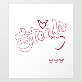 Tornjak steals my heart Funny Gift Shirt. Art Print