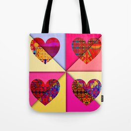 HEARTS SPINNING Tote Bag