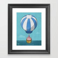 Flying Cupcake Framed Art Print