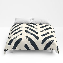 Retro Chevron Pattern 02 Comforters
