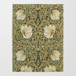 William Morris Pimpernel Art Nouveau Floral Pattern Poster