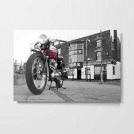 The Trophy TR5 Motorcycle Metal Print