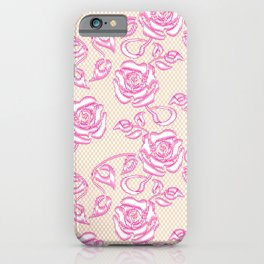 Lace Pattern Neck Gator Lacey Roses iPhone Case