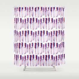 A Lotta Knives Shower Curtain