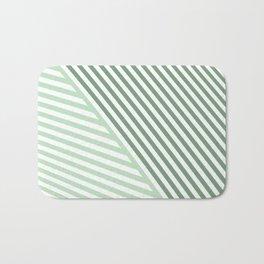 teal stripes Bath Mat